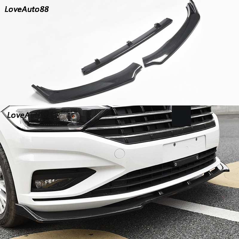 Parachoques delantero de coche, labio Protector de coche, parachoques divisor, Kits de cuerpo para Volkswagen VW Jetta MK7 2019 2020, accesorios de coche