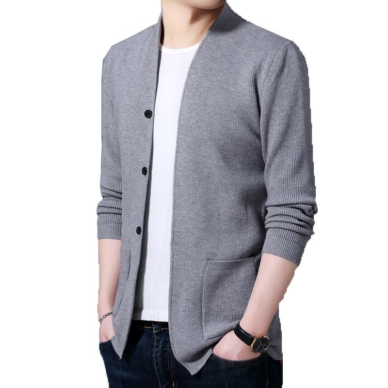2020 outono moda masculina cardigan jaquetas dos homens streetwear tendência sweatercoat masculino casual cinza camisola jaqueta roupas masculinas xxxl