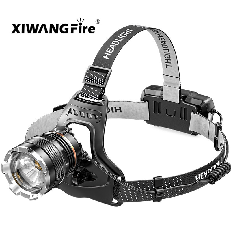 USB Rechargeable Headlamp Flashlight P50 Outdoor Night Fishing Long-lasting Battery Outdoor 18650 Re