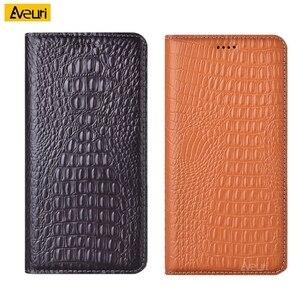 Luxury Genuine Leather Flip Phone Case For ZTE Nubia Z17 Z18 Mini Z17S Crocodile Cover For Axon 7 Mini Max 9 10 10S Pro Case