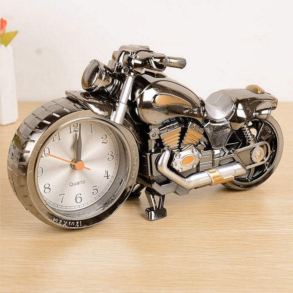Reloj despertador Digital para motocicleta reloj despertador con diseño de motocicleta, proyección de aguja, mesa de cuarzo, despertador, proyector