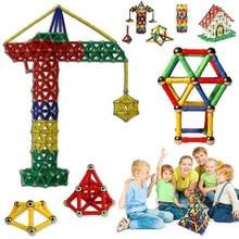 84 Uds. Palos magnéticos educativos bloques de construcción conjunto de juguetes para niños desarrollar regalos de alta calidad