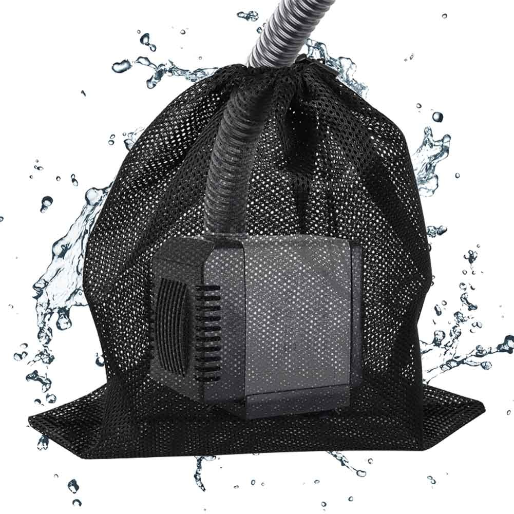 Anti Clogging Water Pump Filter Bag With Drawstring Pond Fish Tank Mesh Garden Supplies Aquarium Net Pouch Tear Resistant Home