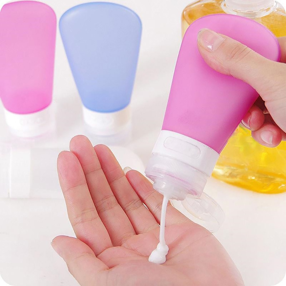 Portable Refillable Silicone Bottle Travel Kit Lotion Bath Shampoo Containers Essential Oil Body Wash Refillable Bottle