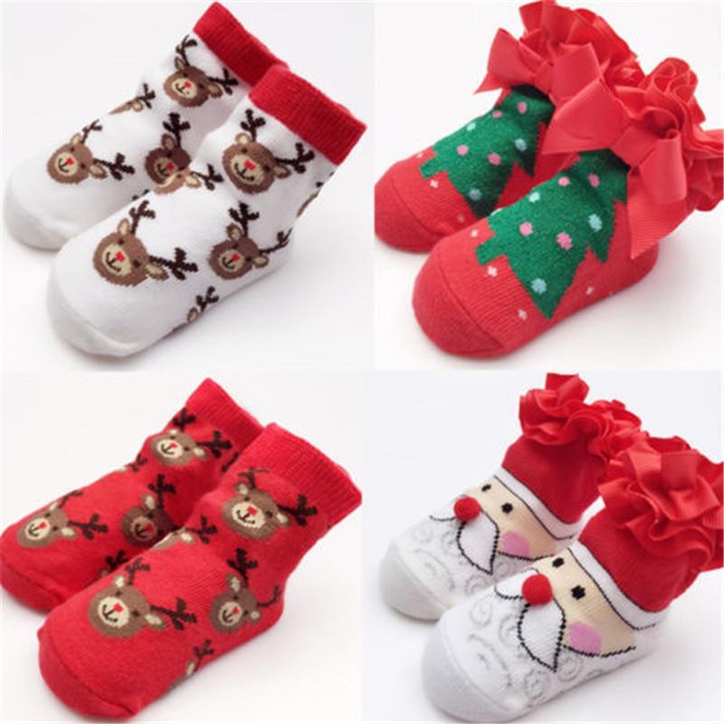 Kids Baby Boy Girl Christmas Socks Newborn Socks Baby Santa Claus Socks Fashion High Quality Xmas Gift Newborn Girl Socks