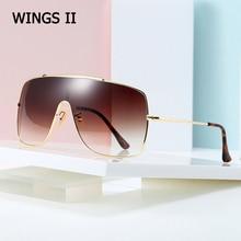JackJad 2020 Fashion WINGS II Style Shield Sunglasses With Metal Hood Men Vintage Brand Design Sun Glasses Oculos De Sol 50279