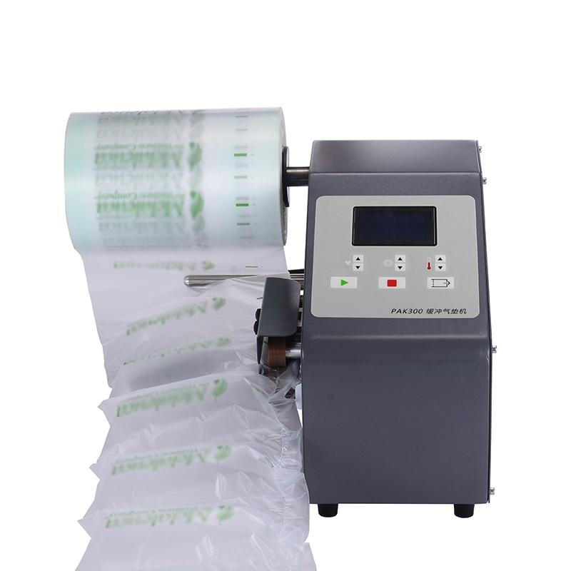 جهاز وسائد هوائية فقاعة حقيبة نافخة عازلة التعبئة FiIm حزمة التفاف لفة ماكينة ملء الهواء فيلم نافخة 6-14 متر/دقيقة
