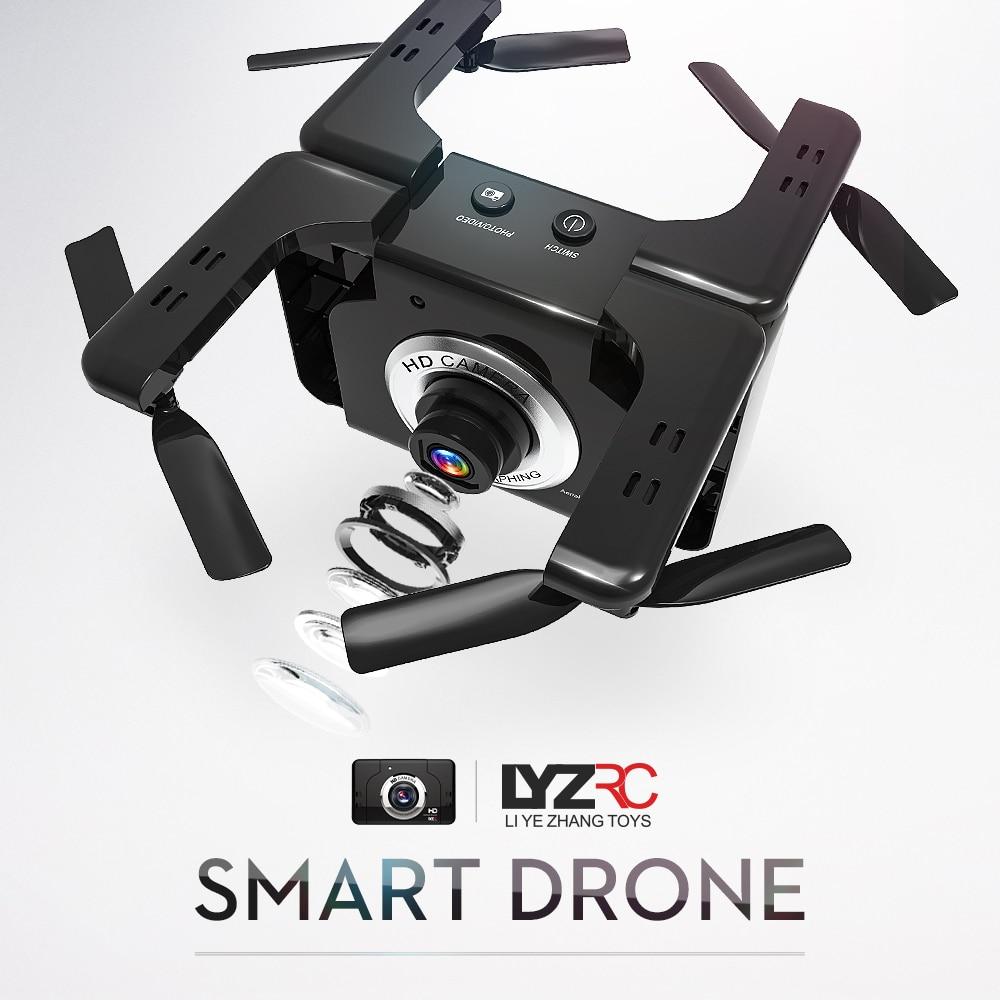 LYZ L600 Optical Flow Single Camera Remote Control Aircraft Folding Gesture Camera Drone HD Aerial Photography Quadcopter