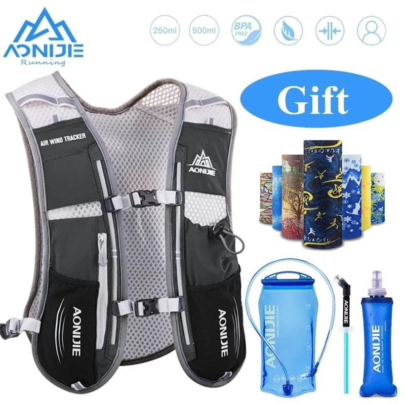 aliexpress.com - AONIJIE 5L Hydration Backpack Rucksack Bag Vest Harness with 1.5L Water Bladder 500ml Soft flask Hiking Camping Running Marathon