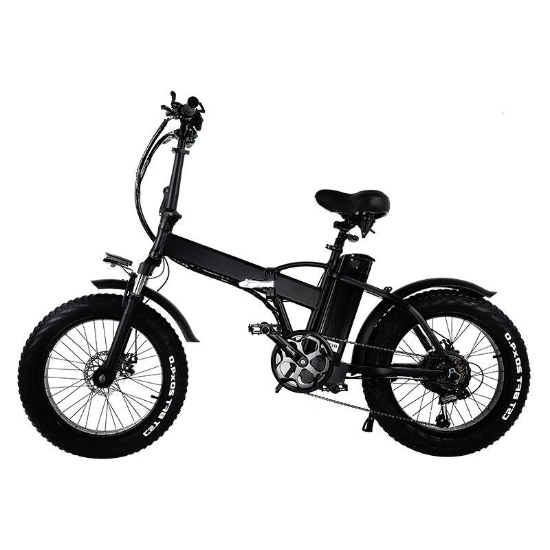 Eur estoque nenhum imposto 500w dobrável pneu gordo 2 roda bicicleta elétrica 48v 15ah removível bt beach cruise booster bicicleta elétrica neve