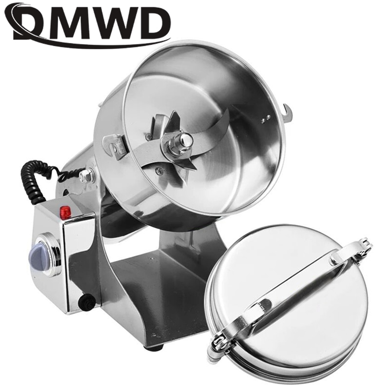 Trituradora de granos eléctrica multifunción DMWD, pulverizador de hierbas de 800G, trituradora automática de alimentos en polvo, 110V, 220V