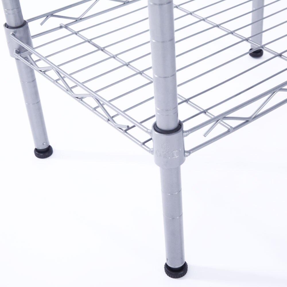 Купить с кэшбэком Adjustable Rectangle Carbon Steel Metal Assembly 4-Shelf Storage Rack Home Organizer for Kitchen,Bathroom,Bar,Office,Living Room