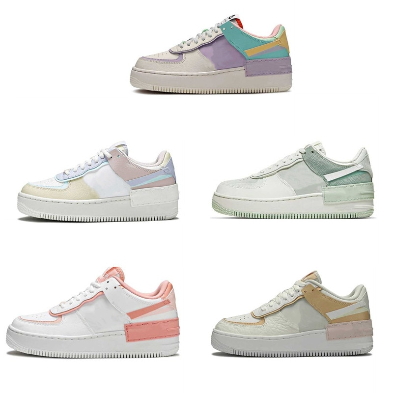 New Hot Shadow Leather Women Flat Skateboarding Shoes White Low-Top Sports Running Sneakers Size 36-40