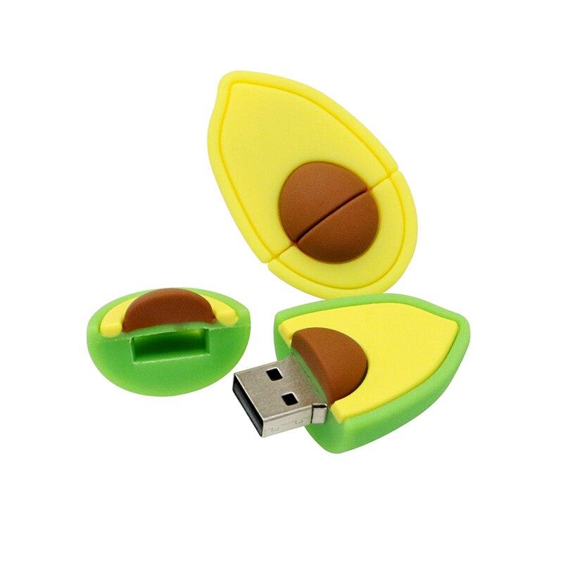 Memoria USB personalizada de aguacate, pera, fruta, Pendrive 64 128 16 8 4 gb 32GB 256GB 4GB 64GB, memoria USB 2,0, mini regalo