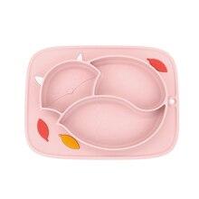 Plaque dalimentation en silicone pour bébé   Plat pour bébé, aspiration de lalimentation, antidérapant divisé gel de silice, vaisselle assiette alimentation conteneur set de table