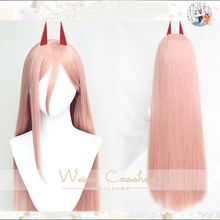 Chainsaw Man power cosplay wig 80cm Long Straight Synthetic Hair Heat Resistance + Wig Cap