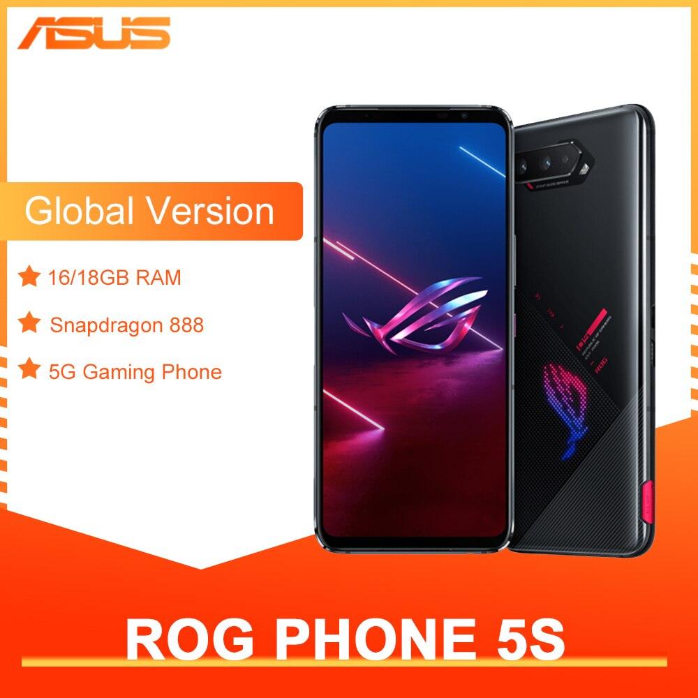 Promo Original ASUS ROG Phone 5s Global Version Snapdragon888 16/18GB RAM 256/512GB ROM 6000mAh 65W NFC OTA Update Gaming Phone ROG5S