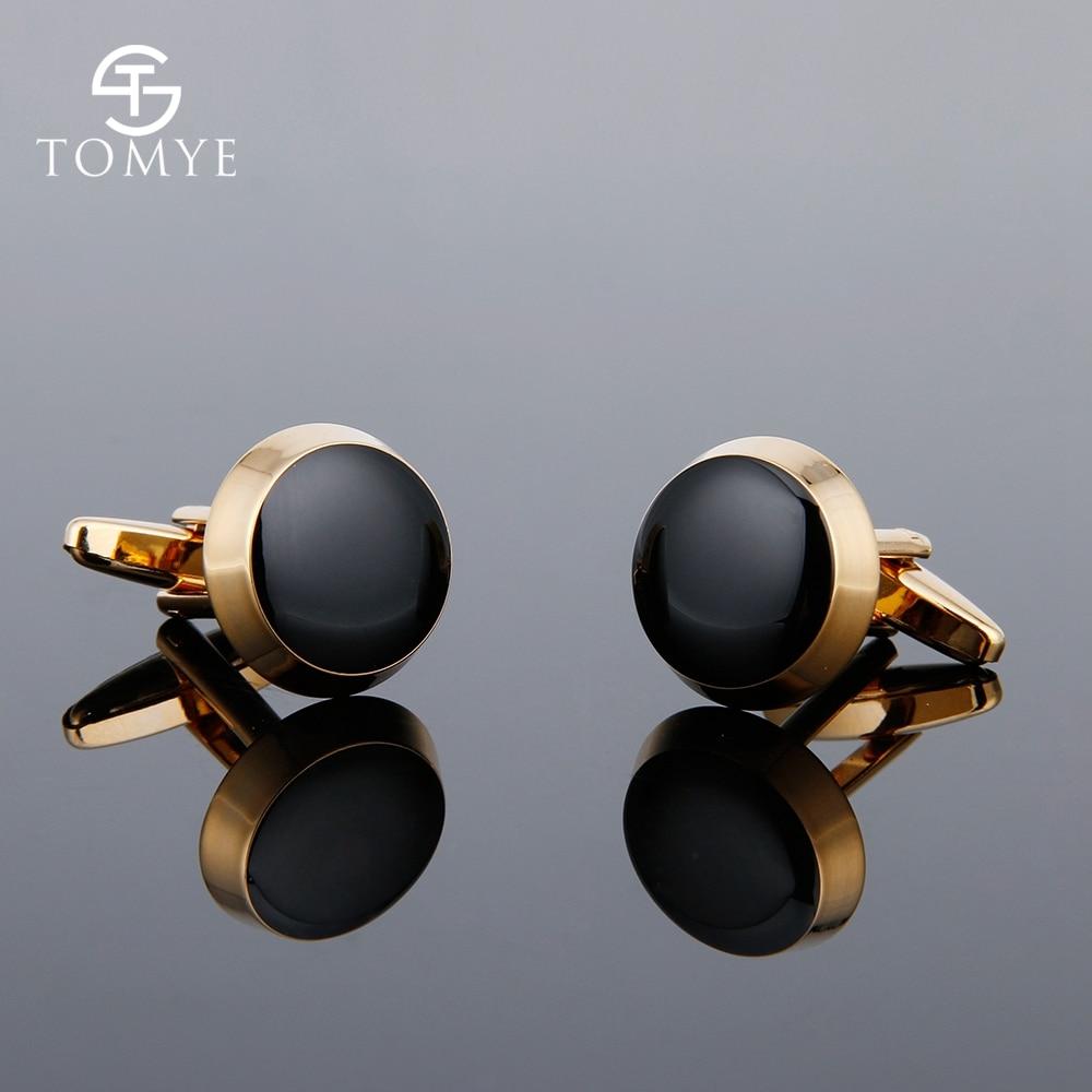 Cufflinks for Men TOMYE XK18S332 High Quality Designer Gold Premium Restrained Elegance Cuff Links