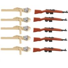 Militärischen Soldaten Waffen Bausteine WW2 Deutsch Armee Teile Helm Pistolen Pzf Zubehör Ziegel Spielzeug für Kinder Geschenk D089