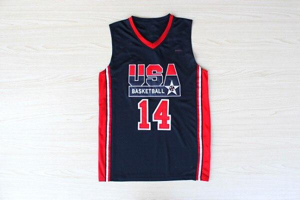 11 tipos de camisetas para hombre con bordado de malla de baloncesto de Estados Unidos, camisetas transpirables de secado rápido para el hogar, camisetas para el equipo Dream 1992