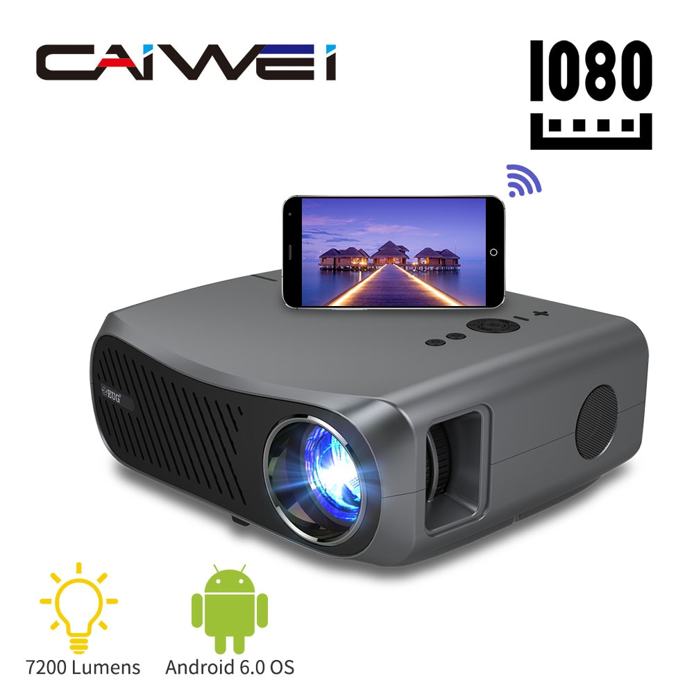 Home Projector Video Beamer 7200 Lumens Wireless Airplay Android System Freeshipping A12AB Full Hd 1