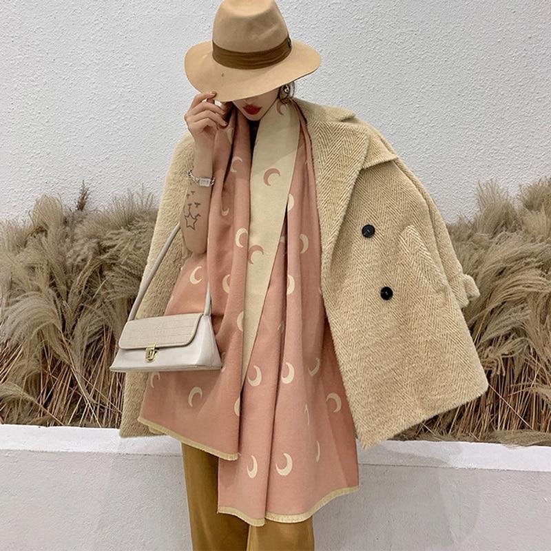 Lady Winter Warm Scarves Female Thick Shawl Pashmina Travel Blanket Wraps Christmas Gift Luxury Women Cashmere Scarf 200*65cm