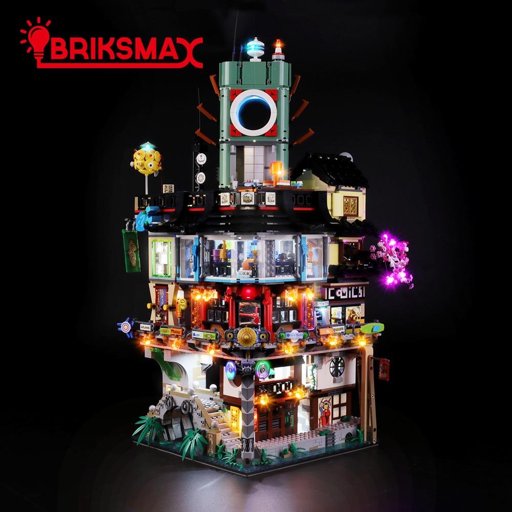 BriksMax Lighting Kit Set For 70620 Ninja City Building Blocks (NOT Include The Model)
