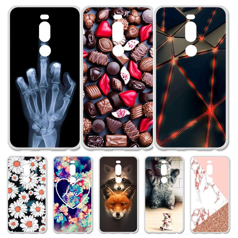 Funda de teléfono para Meizu M8, Fundas de silicona con flores de animales para Meizu M8 Lite Meizu V8 Pro M8Lite, Fundas