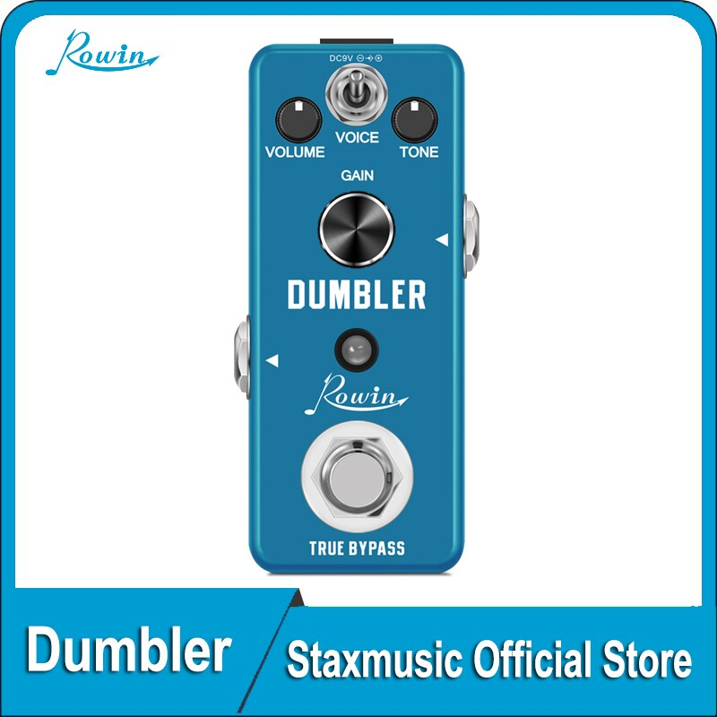 ROWIN LEF-315 Guitar Dumbler Pedal Effect Sound Ranging From a Tasty Light Overdrive To Juicy Medium Low Distortion