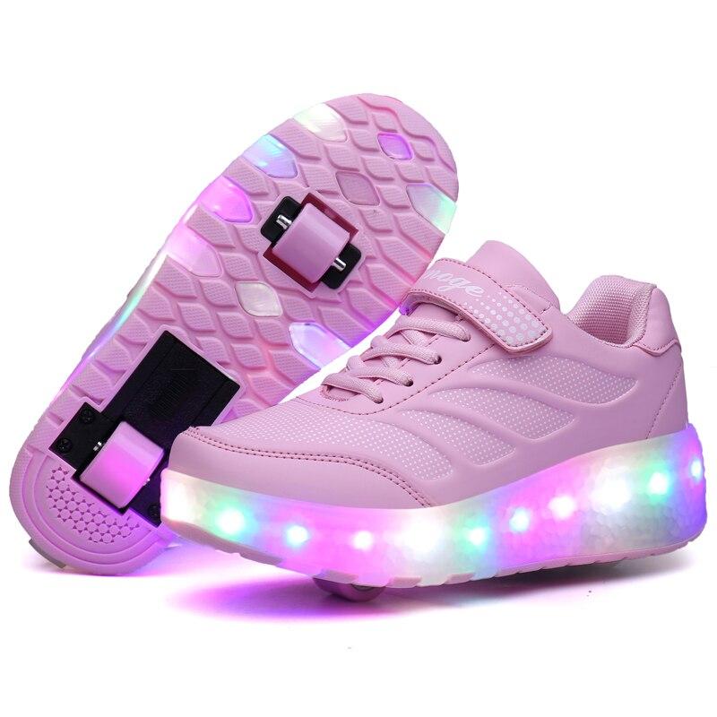 Zapatillas de deporte ligeras Con luces LED para niños y niñas, Zapatos...
