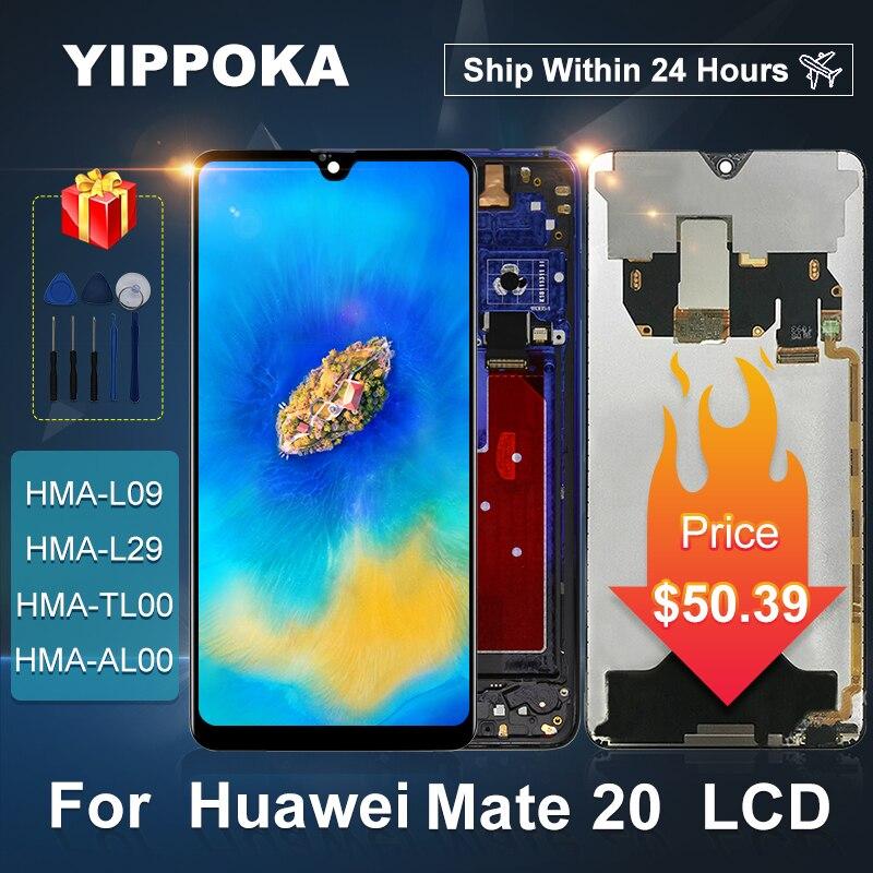 ЖК-дисплей 6,53 дюйма для Huawei Mate 20, сенсорный экран, дигитайзер, аналогичный для Huawei Mate 20, запасные части для дисплея