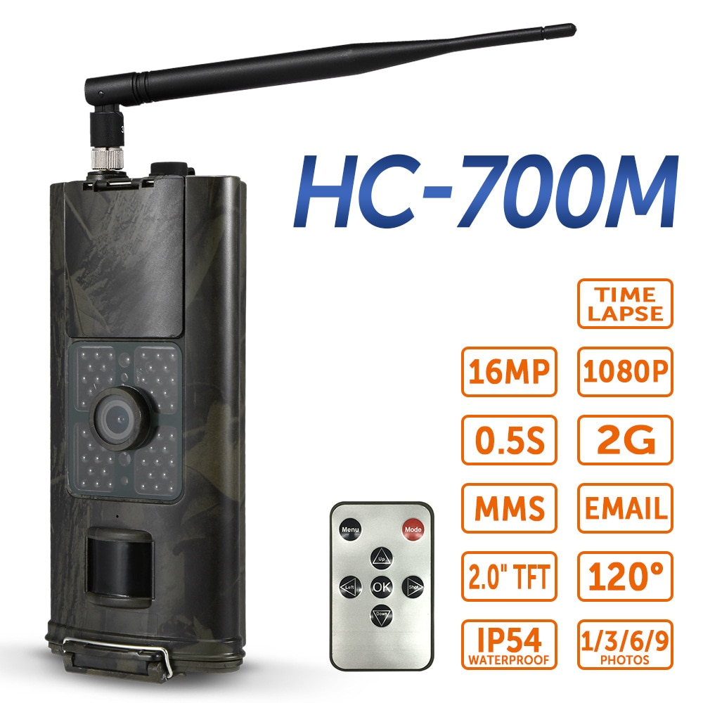 2G الصيد كاميرا تعقب المحمول الخلوي 16MP 1080P صور الفخاخ البرية كاميرا HC700M اللاسلكية مراقبة الحياة البرية