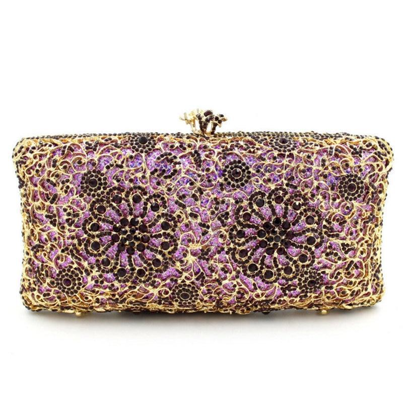 حقائب سهرة أرجوانية للنساء ، حقيبة يد للحفلات ، حقيبة يد ماسية ، عشاء ، مأدبة ، عصرية ، مجموعة جديدة