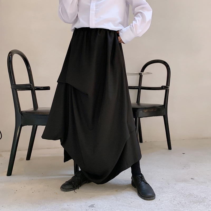 Four Seasons, Dark Yamamoto, Personal Drape, Men's Culottes, Pants, Hairdressers, Young Men's and Women's Trend Streetwear