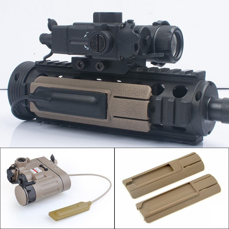 DBAL-D2 táctico láser rojo IR, linterna y Panel de bolsillo para interruptor, Rifle de caza, dbal d2, mira láser PEQ Fit Picatinny Rail