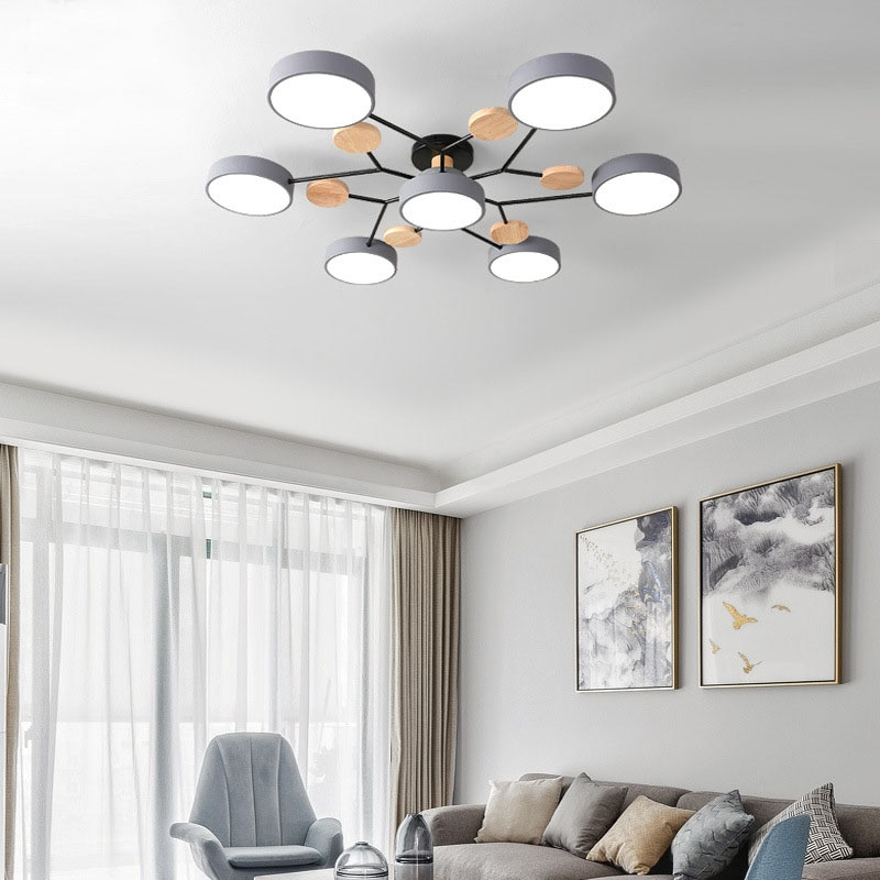 Modern minimalist living room LED ceiling lamp bedroom dining room lighting chandelier factory direct sales