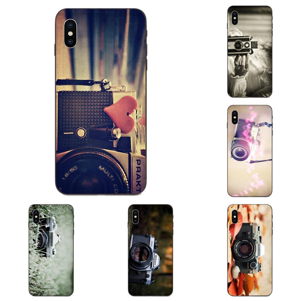 For Galaxy A10S A20S A2 Core A30S A40S A50S  A70S A90 5G M10 M30S M40 Note 10 Plus Soft TPU Mobile Phone Retro Camera Fans