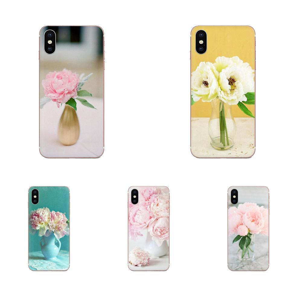 Flor Rosa peonía en el jarrón móvil suave para Galaxy Alpha Note 10 Pro A10 A20 A20E A30 A40 A50 a60 A70 A80 A90 M10 M20 M30 M40