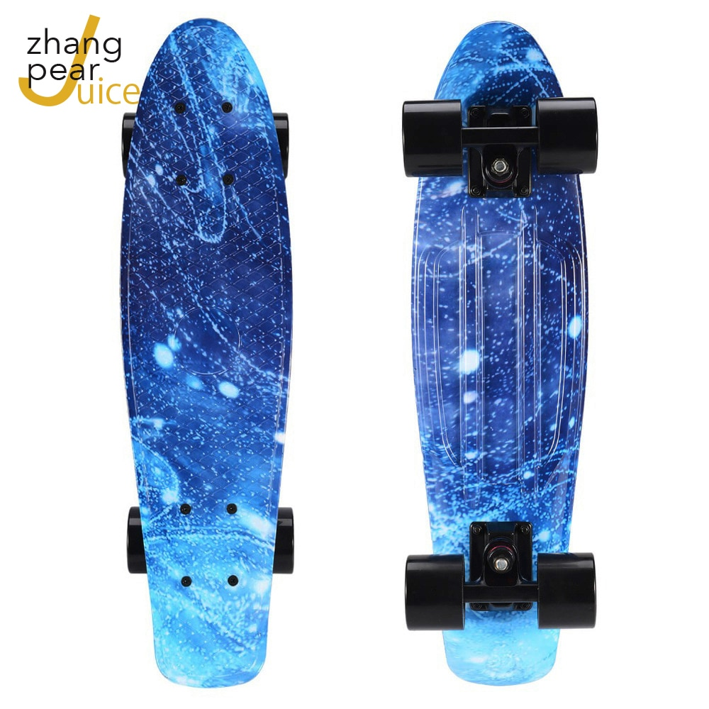 22 inch Skateboard Cruiser Board Penny Board Skate Starry Sky Galaxy Boy Girl Led Light Flashing Scooter