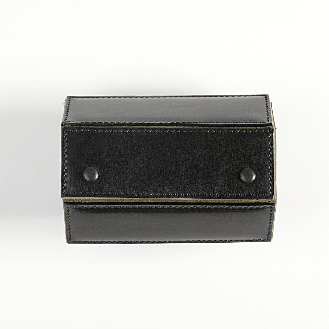 Handmade Leather Watch Boxes Storage Organizer Box Luxury Black Portable Watch Box Bag Hard Men Mechanical Watch Travel Roll enlarge