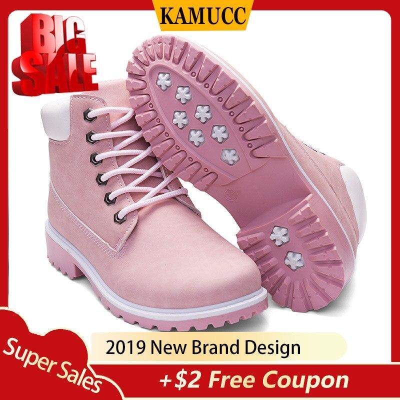 KAMUCC, Botas de invierno, zapatos de Mujer, zapatillas de felpa cálidas, Botas de nieve para Mujer, botines con cordones para Mujer, zapatos informales, Botas de Mujer