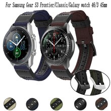22mm Nylon canvas Nato Strap For Samsung Galaxy watch 3 45/46mm/Gear S3 Frontier/Classic bracelet Ac