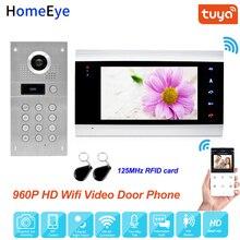 Tuya Smart App Fernbedienung WiFi IP Video Tür Telefon Video Gegensprechanlage Access Control System Bewegungserkennung Code Tastatur ID karte