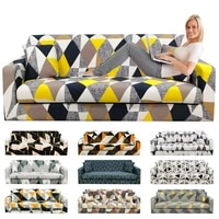 new elastic corner sofa cover for living room polyester geometric printing sectional slipcover stretch home decor 1234 seat