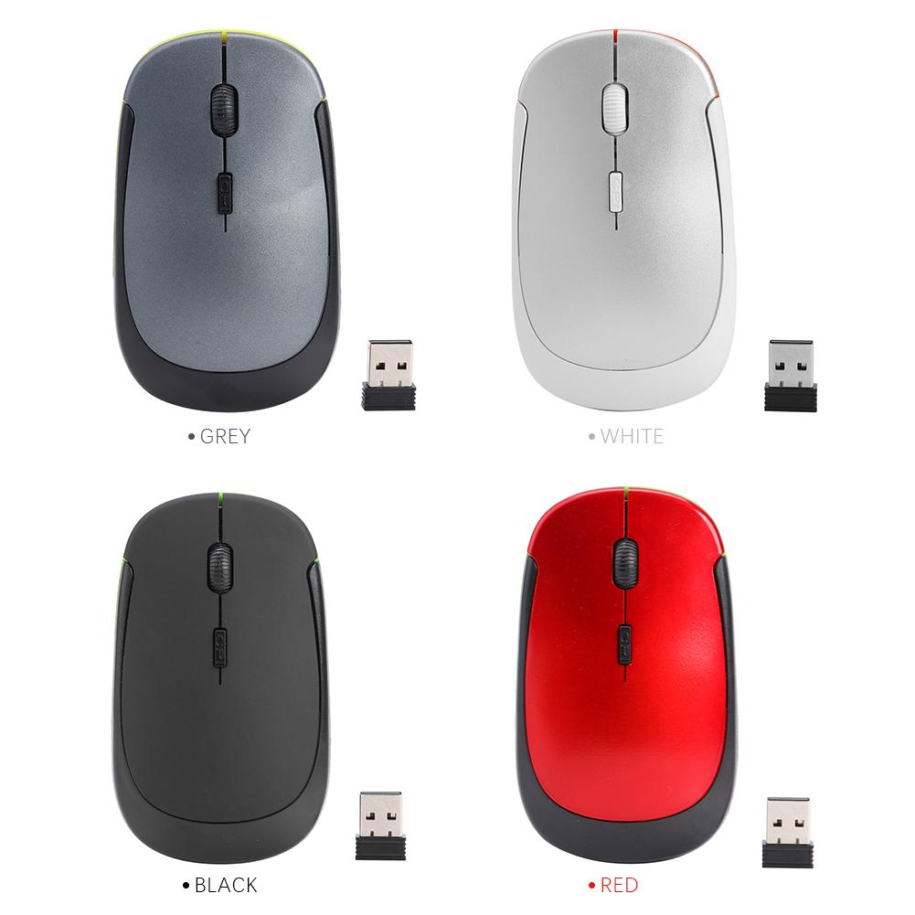 Wireless Computer Mouse High-quality 1600DPI USB Optical 2.4G Receiver Slim Mouse Computer Peripherals for Laptop 105x60x20mm