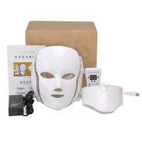 Инструмент для лица маска для лица фотонная терапия LED 7 цветов для шеи омоложение кожи против акне лечение морщин салона красоты Домашний У...