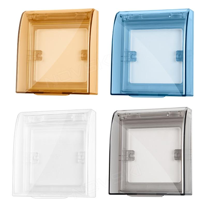NOVSKI Universal Waterproof 86 Type Wall Socket Plate Panel Switch Box Cover Protector, Flame Retardant, 360 degree waterproof