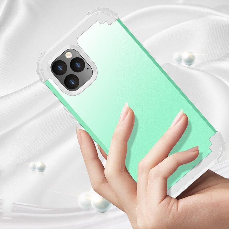 Fundas de teléfono a prueba de golpes para iPhone 116 6S 7 Plus para Galaxy S8 funda duradera PC + TPU 3 capas híbrida protección completa armadura carcasa de teléfono