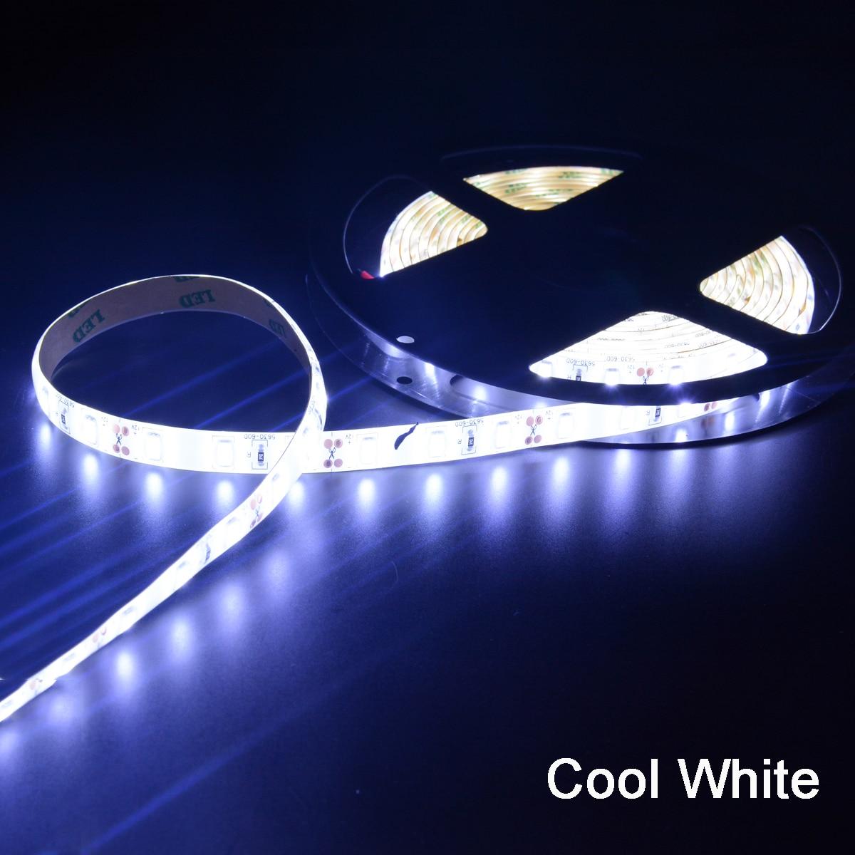 Гибкая светодиодная лента, 1 м, 2 м, 3 м, 4 м, 5 м, 12 В постоянного тока, 5630, водонепроницаемая светодиодная лента Fita, 60 светодиодов/м с самоклеющейся задней лентой