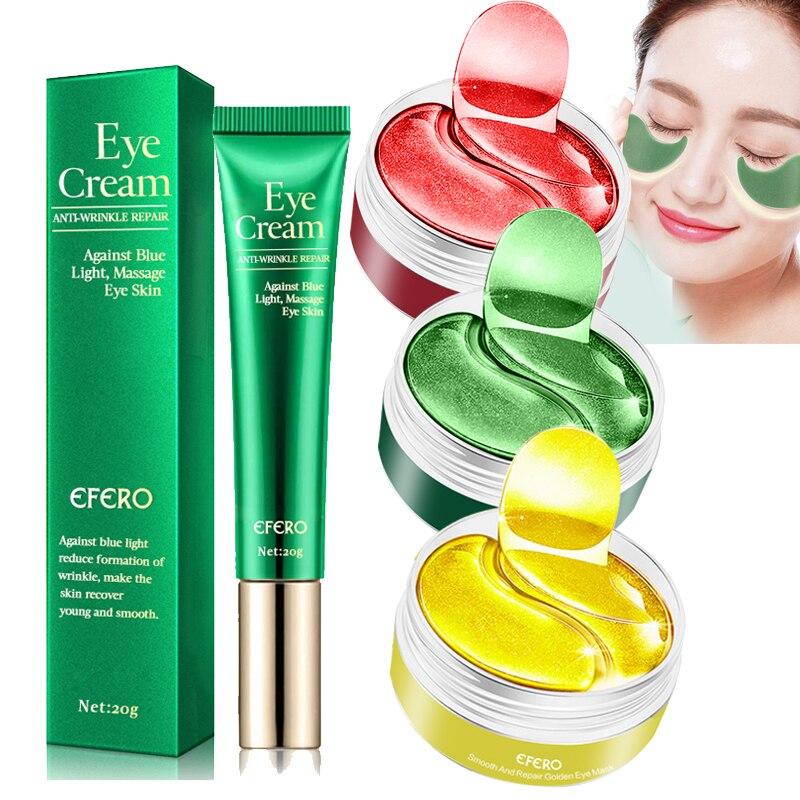 Eye Mask Seaweed Collagen Eye Patches Gel Pad Remove Dark Circles Anti-Puffiness Anti-Aging Eye Cream Moisturizing Eyes Care недорого
